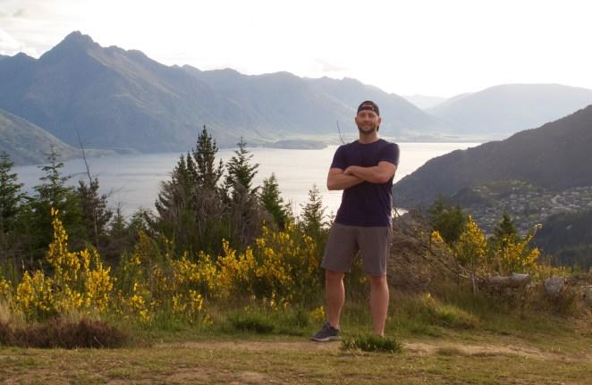 Hiking Queenstown Hill, New Zealand