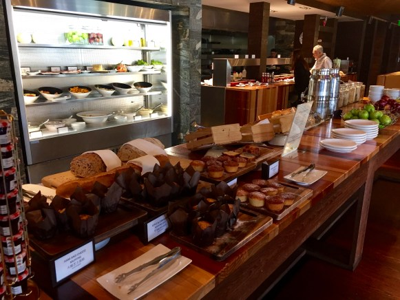 Breakfast buffet spread at Wakatipu Grill - complementary with HH status.
