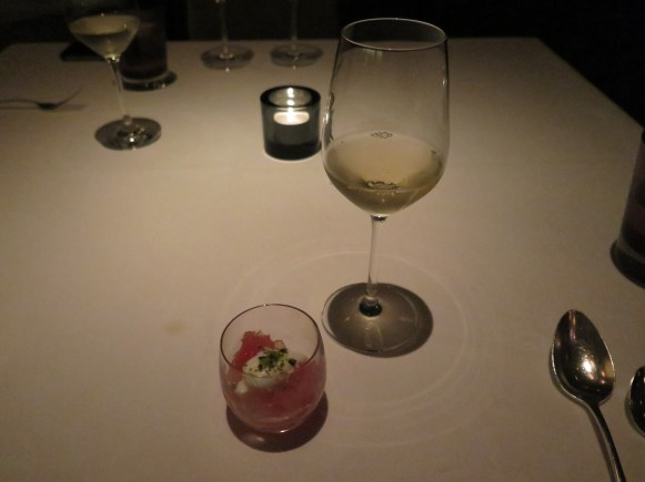 Course 5 - Ruby Grapefruit Verrine w/ Riesling