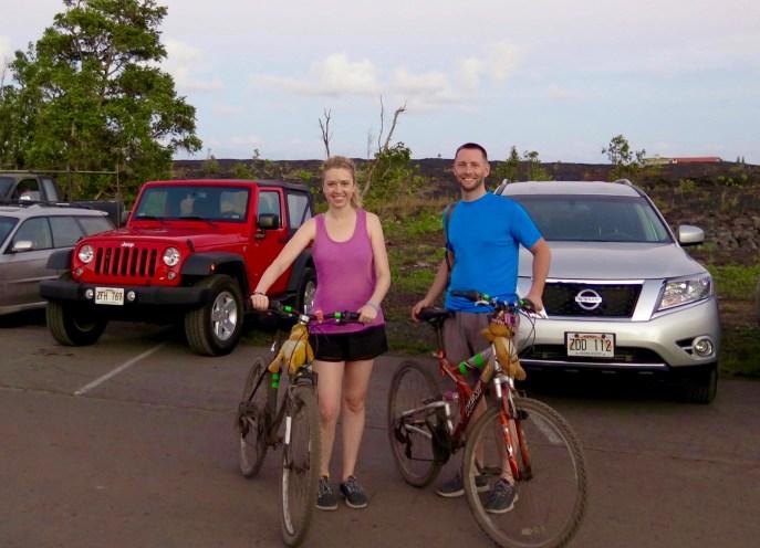 Biking over the lava field