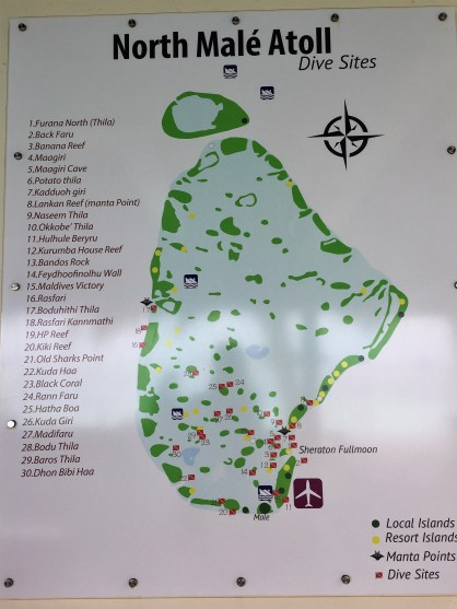 Map of Scuba Dive Sites