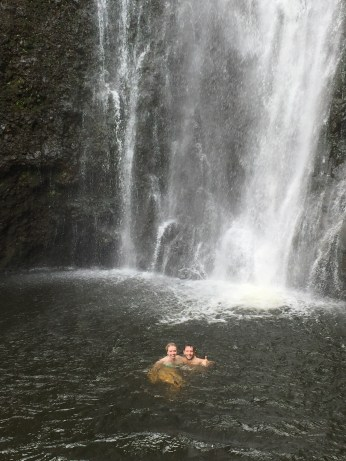 Swimming in the Falls
