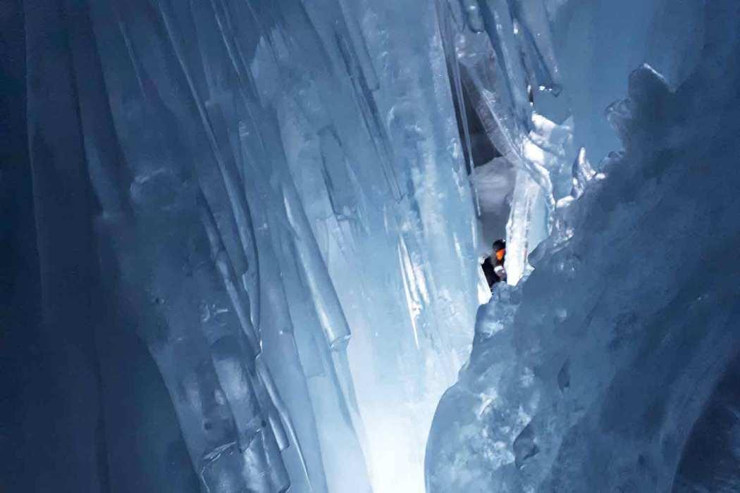 Gletscherspalte am Tuxer Gletscher