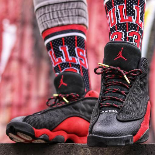 Rope Red Black Laces on Jordan 11 2