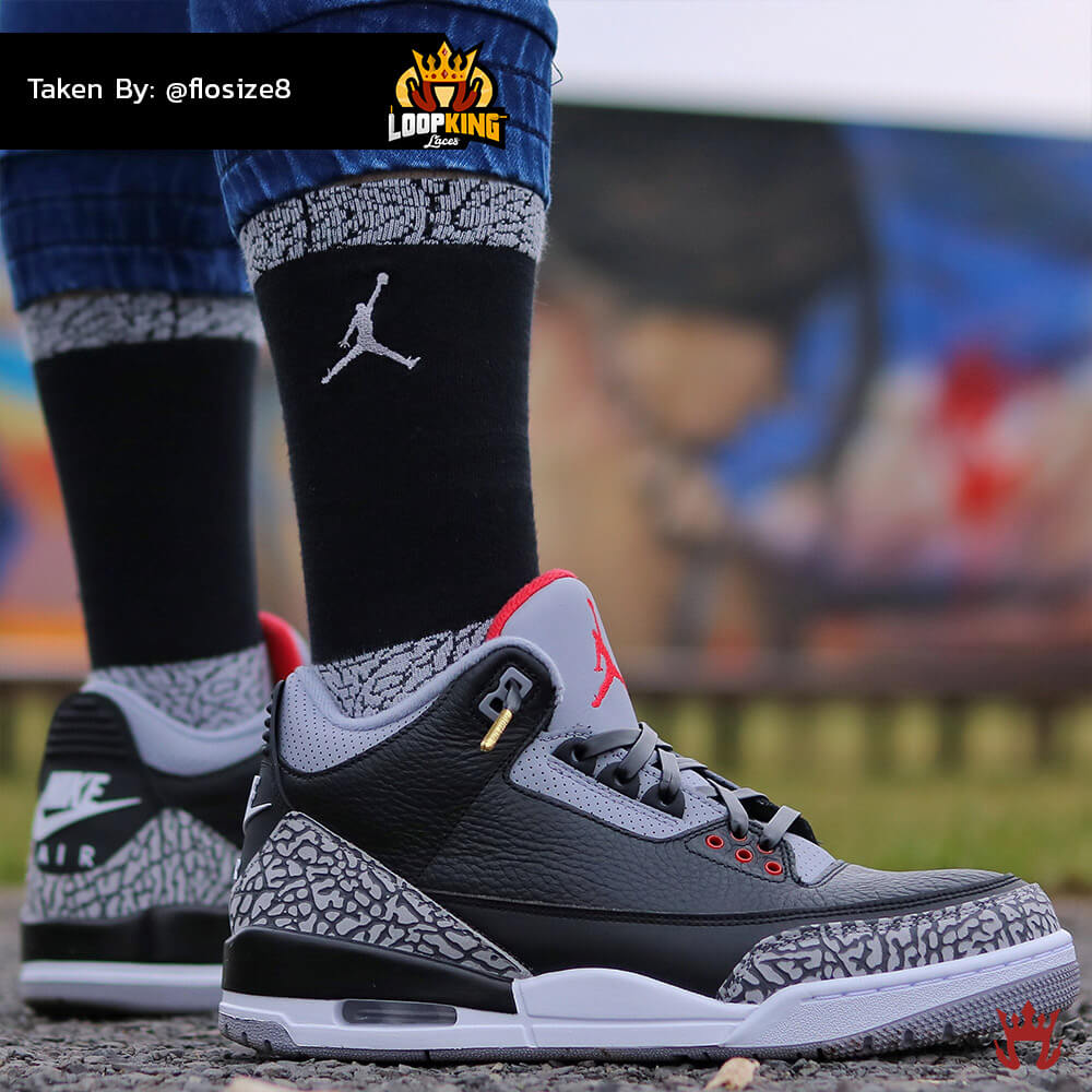 black leather shoelaces on jordan cements 2