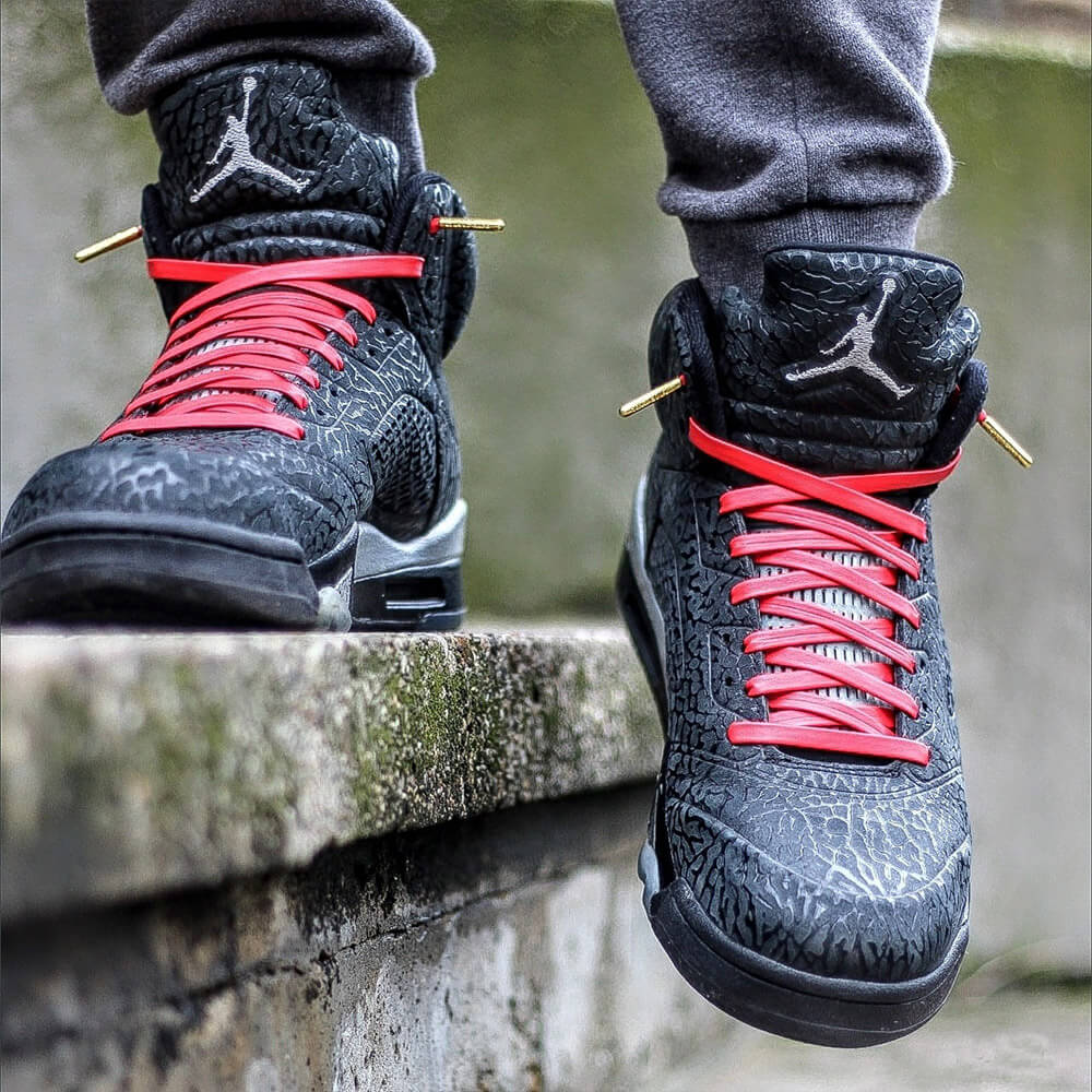 aa2ba57f64233 ... sale gold tips on air jordans 2 red leather laces on jordan shoes a7457  182e9
