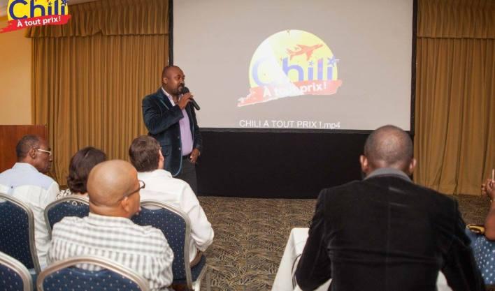 Valery Numa, réalisateur du documentaire « Chili à tout prix » présenté, pour la première fois, le jeudi 21 septembre 2017 à l'hôtel El Rancho et primé à la 7è éd. du Haitian Movie Awards