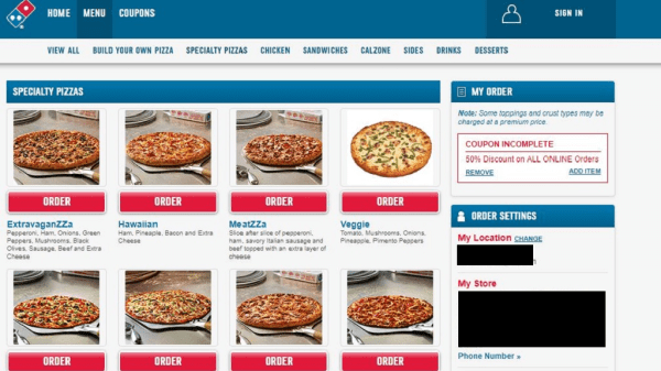 Domino's Pizza goes digital with online ordering, mobile ...