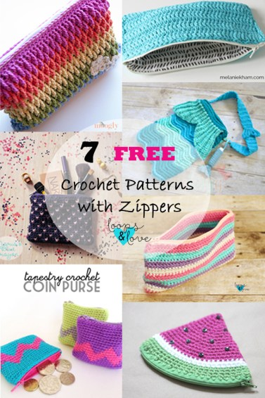 7 Crochet Patterns With Zippers Free Crochet Pattern Roundup