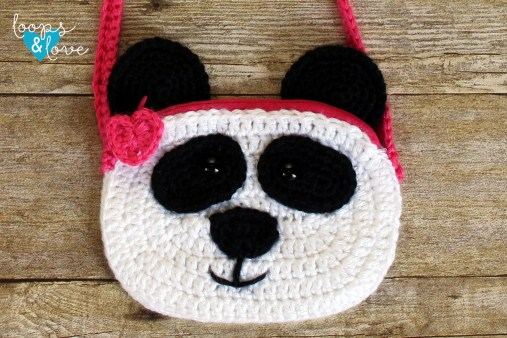 Crochet Panda Purse Loops Love Crochet