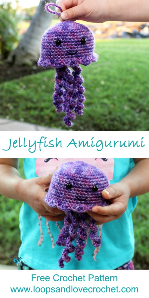 Amigurumi Jenny the Jellyfish crochet pattern. Languages: English ... | 1024x512