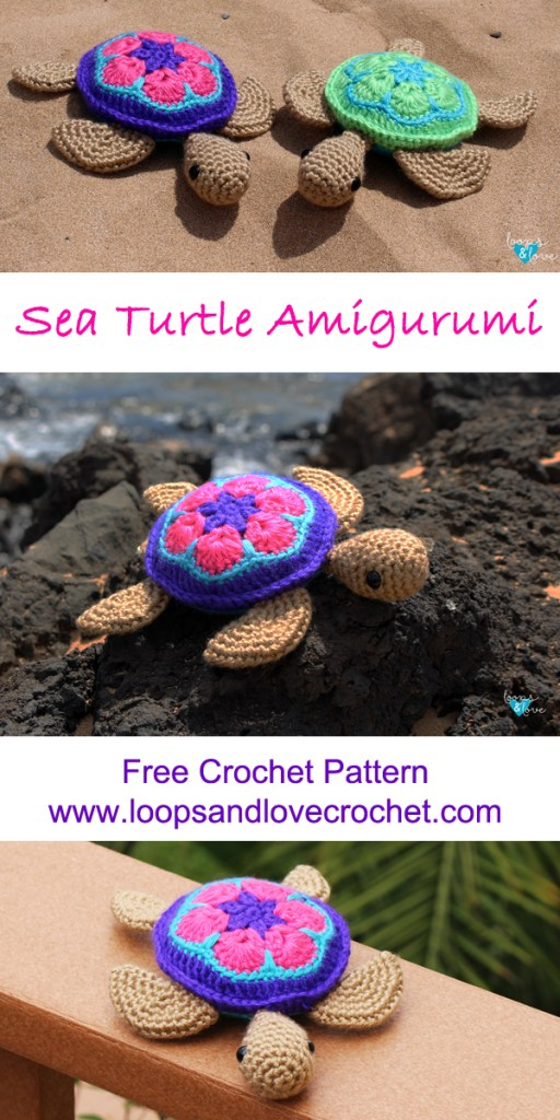 Sea Turtle Crochet Free Pattern Amigurumi Animal #crochet ... | 1024x512