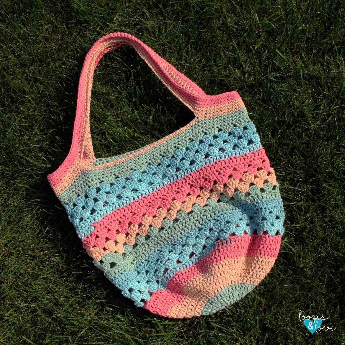 Easy Market Tote Free Crochet Pattern Loops Amp Love Crochet