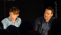 Domnhall Gleeson & Michael Fassbender at Frank