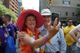 But first, let's take a selfie...Norm with Councillor Janet Davis