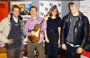 John Williams, Michael Mueller, Joanna Orland nearly getting a guitar in the face, Nicholas Galitzine