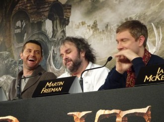 Richard Armitage, Peter Jackson & Martin Freeman