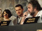 Evangeline Lilly, Richard Armitage & Peter Jackson