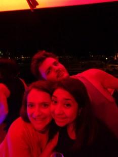 yacht party photo bomb
