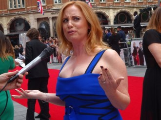 Jessica Chaffin at Spy movie premiere in London