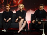 Star Wars: The Last Jedi - Domhnall Gleeson, Gwendoline Christie & Andy Serkis