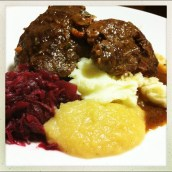 Pigs Cheeks with Rosemary, Cider & Apples
