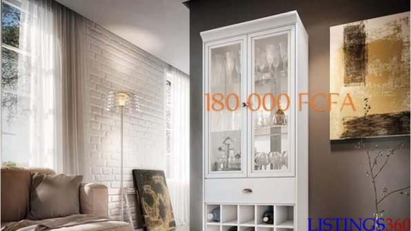 armoire vitre pour salon chic lagunes