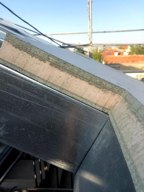 Instalacion panel sandwich sobre estructura metalica