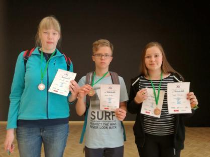Pärnumaa koolide võistkondlikel MV kiirmales 5-12. klasside arvestuses kolmas koht. Juhendaja õp Reet Pikkmets.