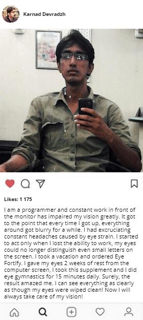 Eye Fortify testimonials
