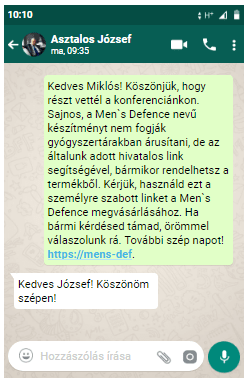 Men's Defence rendelés