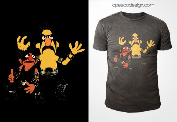 NORWEGIAN STREET | A mash up with an iconic photo of Black Metal band Immortal and Ernie & Bert, from Sesame Street.