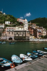 Vernazza from the harbor.