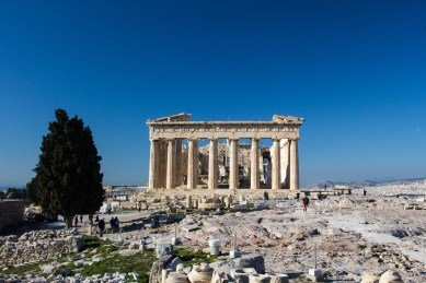 The upside to visiting the Parthenon in the winter is there were a lot fewer tourists as can be noticed.