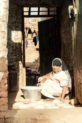 We got to see this lovely lady making the days bread in the morning, as we came back from hiking to visit tombs.