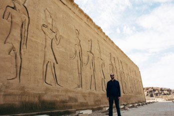 Another picture for scale on the back of Edfu temple.