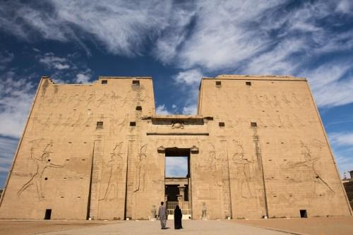 The entrance to Edfu temple.