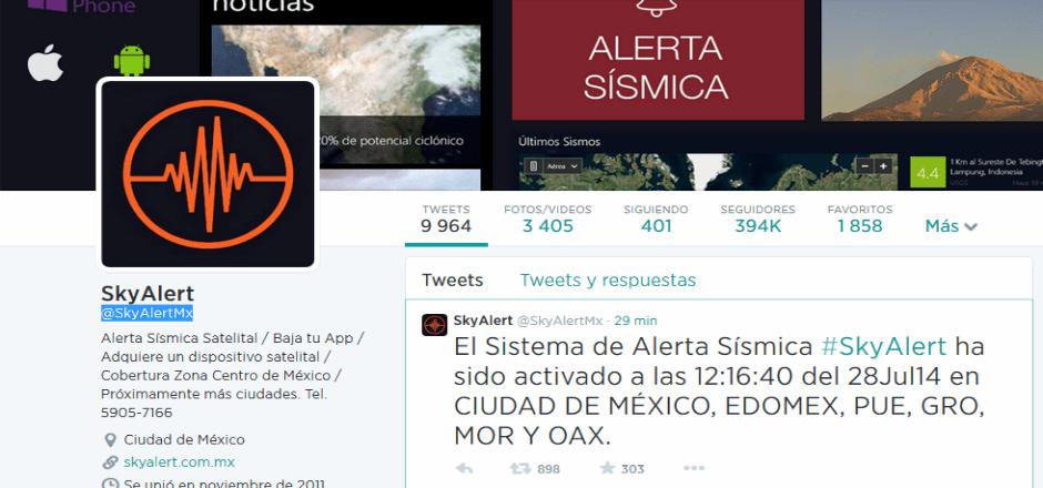 Se activa alerta sísmica en app no oficial - Foto de Twitter