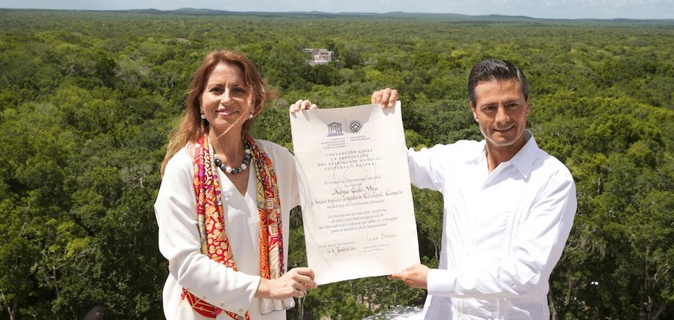 Calakmul es Patrimonio Mixto de la Humanidad - Foto de Presidencia