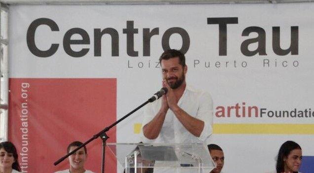 Inaugura Ricky Martin centro contra la Trata Infantil - Foto de Twitter