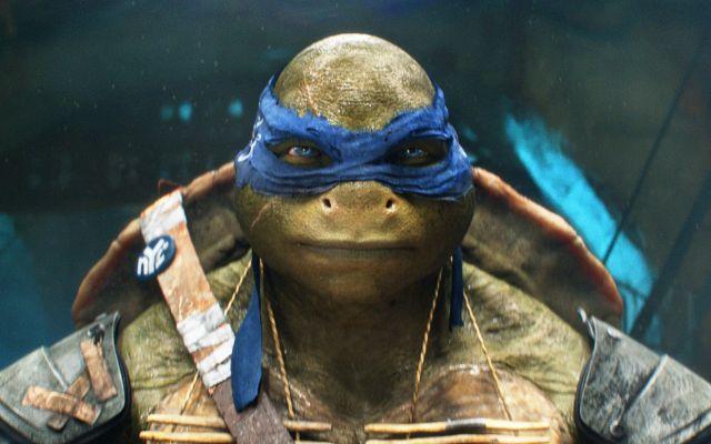 """""""Tortugas ninjas"""" encabezan taquilla norteamericana - Leonardo de la película """"Las Tortuga Ninja"""" en una fotografía proporcionada por Paramount Pictures. La nueva versión con actores del cómic de 30 años presenta a los  superhéroes salidos de la alcantarilla completamente computarizados, un estilo más parecido al Gollum de"""