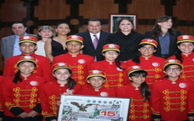 Conmemoran el 160 aniversario de Himno Nacional con billete de la Lotería - Foto de Quadratín