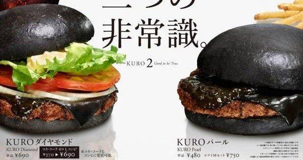 Venderán hamburguesas negras en Japón - Foto de Independent