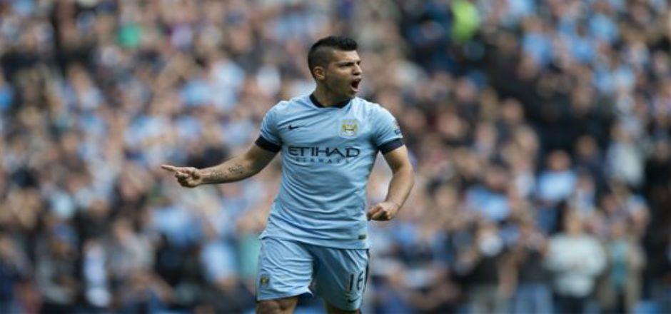 Gana City con 4 goles del Kun - Foto de AP