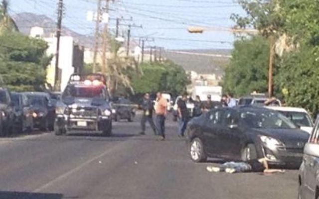 Balacera en La Paz deja tres muertos - Foto de BCS Noticias
