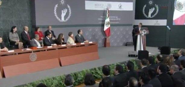 Peña Nieto entrega Premio Nacional de los Derechos Humanos 2014 - @presidenciaMX
