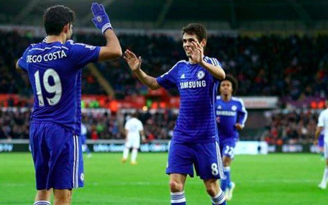 Manita del Chelsea al Swansea - Diego Costa y Óscar fueron las figuras en la victoria del Chelsea
