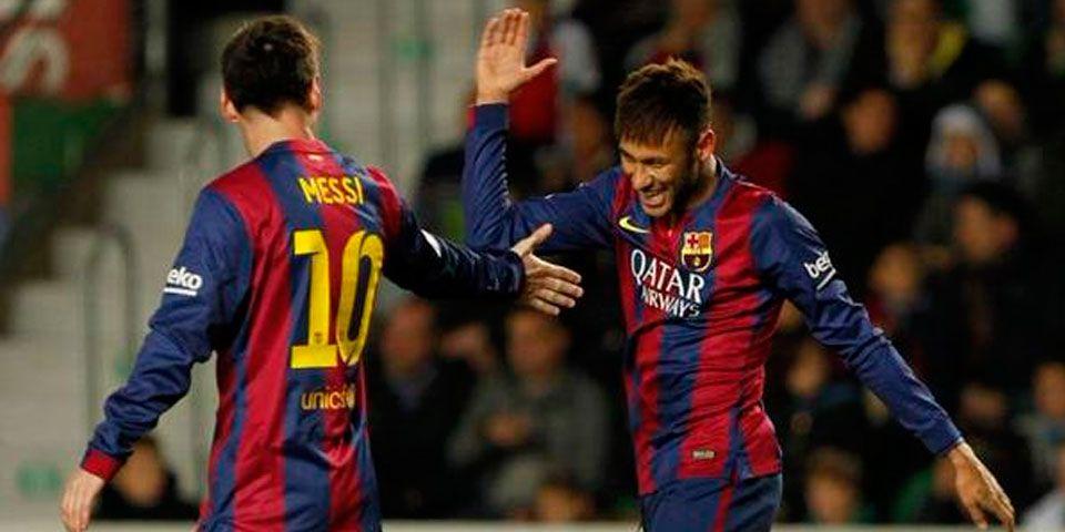 Barcelona golea 6-0 al Elche - Messi y Neymar brillaron en la victoria del Barcelona ante el Elche