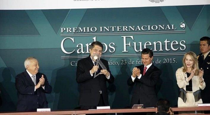 EPN entrega Premio Carlos Fuentes a escritor nicaragüense - EPN en el Museo Nacional de Antropología