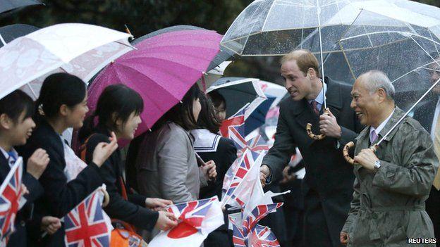 Príncipe Guillermo llega a Japón - Príncipe Guillermo llega a Japón